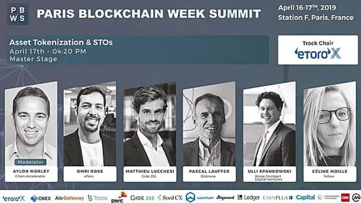 Céline Moille speaker at Paris Blockchain Week Summit