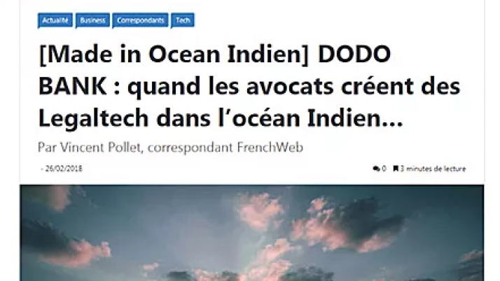 [Made in Océan Indien] Dodo Bank : on en parle dans Frenchweb !