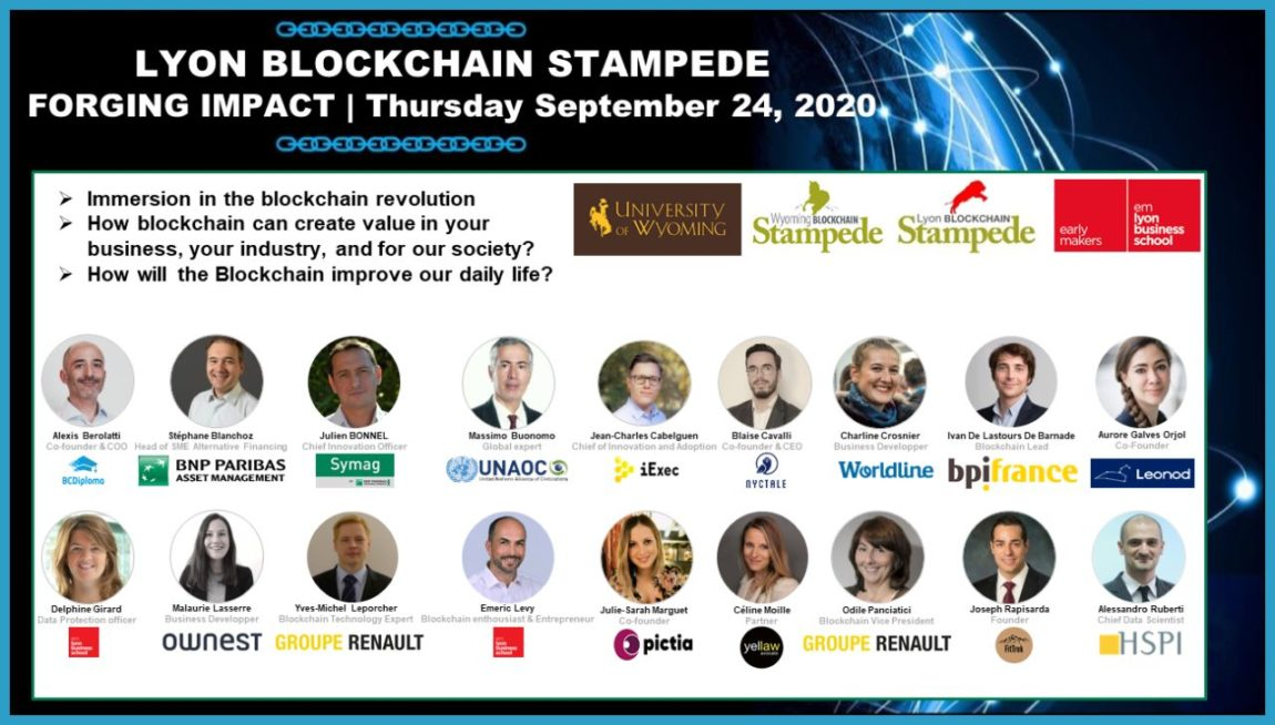 Web Conference   Lyon Blockchain Stampede – Want to know more about how blockchain can create value in your business, your industry, and for our society?