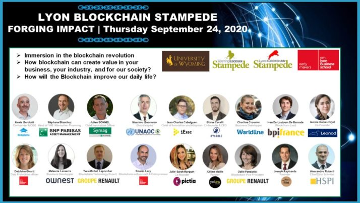 Web Conference | Lyon Blockchain Stampede – Want to know more about how blockchain can create value in your business, your industry, and for our society?